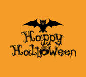 Happy Halloween sign. — Vector de stock