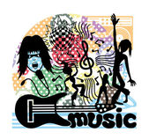 Vector illustration. Music. — Stock Vector