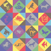 Seamless background. Animals. — Stockvector