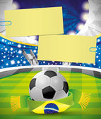 Vector banner. Football. — Stock Vector