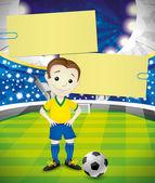 Vector banner. Footballer. — Stockvektor