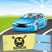Vector banner. Car repair. — Stock Vector