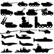 Vector signs. Military equipment. — Stock Vector #47065907