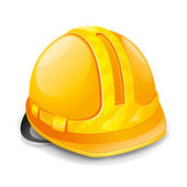 Hardhat isolated on white. — Stock Vector