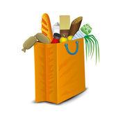 Paquete con productos. — Vector de stock