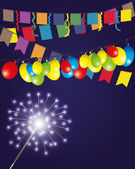 Vector illustration. Firework. — Vettoriale Stock