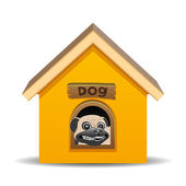 Vector illustration. Dog house. — Stock Vector