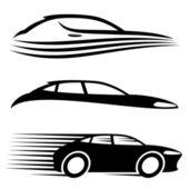 Vektör kümesi. Araba işaretleri. — Stok Vektör