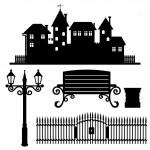 Vector set. Street elements. — Stock Vector #50975661