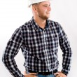 Portrait of an handsome engineer — Stock Photo
