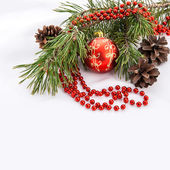 Christmas decoration with copy space — Stock Photo