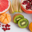 Set of different tasty fruits — Stock Photo