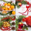 Christmas and new year decoration set — ストック写真