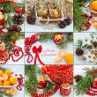 Colorful christmas and new year decoration baubles — Stock Photo