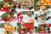 Colorful christmas and new year decoration baubles — Foto Stock