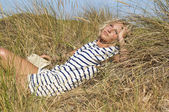 Relaxing at the meadow — Stock Photo