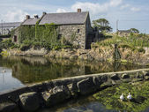 The Old Mill and Weir in Annalong — Stock Photo