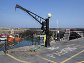 Busy sea port crane — Stock Photo