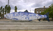 The big fish in belfast — Stock Photo