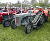 ANTRIM, NORTH IRELAND, 06-05-2013 Vintage Rally, tractors on dis — Stock Photo