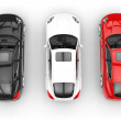 Cars Top View — Stock Photo