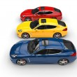 Stock Photo: Three Cars In Row