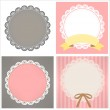 Cute Lace Pattern — Stock Vector
