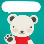 Polar bear - Xmas greeting card — Stock Vector #28376397