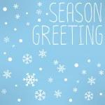 Merry Chrismas greeting card — Stock Vector