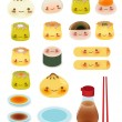 Cute DimSum Collection — Stock Vector