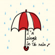 Single in the Rain — Stock Vector