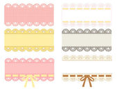 Lace label — Stock Vector