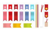 Bookmark Collection — Stock Vector
