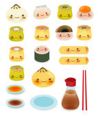 Cute DimSum Collection — Stock Vector