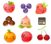 Cute Fruit Collection — Stock Vector