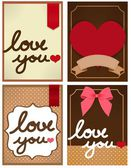 Valentine Card — Vetorial Stock
