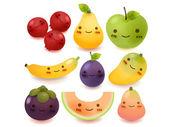 Colección de frutas y hortalizas — Vector de stock