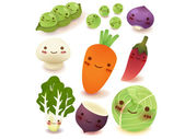Fruit and vegetable Collection — Stock Vector