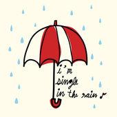 Single in the Rain — Stock Vector