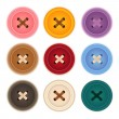 Clothes Buttons Collection — Stock Vector