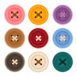 Clothes Buttons Collection — Stock Vector #28381191