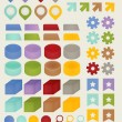 Stock Vector: Set of adaptable elements info graphics