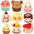 Collection of Cute Dessert — Stock Vector #28386671