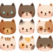 Collection of Cute Cat — Stock Vector #28387061