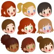 Collection of Cute Multi Ethnic Character — Stockvectorbeeld