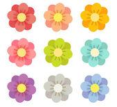 şirin çiçekler — Stok Vektör