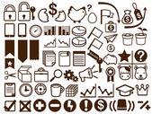Wirtschaft und finanzen-symbol — Stockvektor
