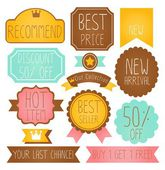 Set of Premium and High Quality labels — Stock Vector