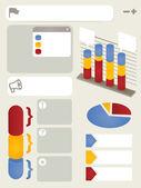 Set voor flexibele elementen info graphics — Stockvector
