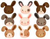 Collection of Cute rabbit — Stock Vector